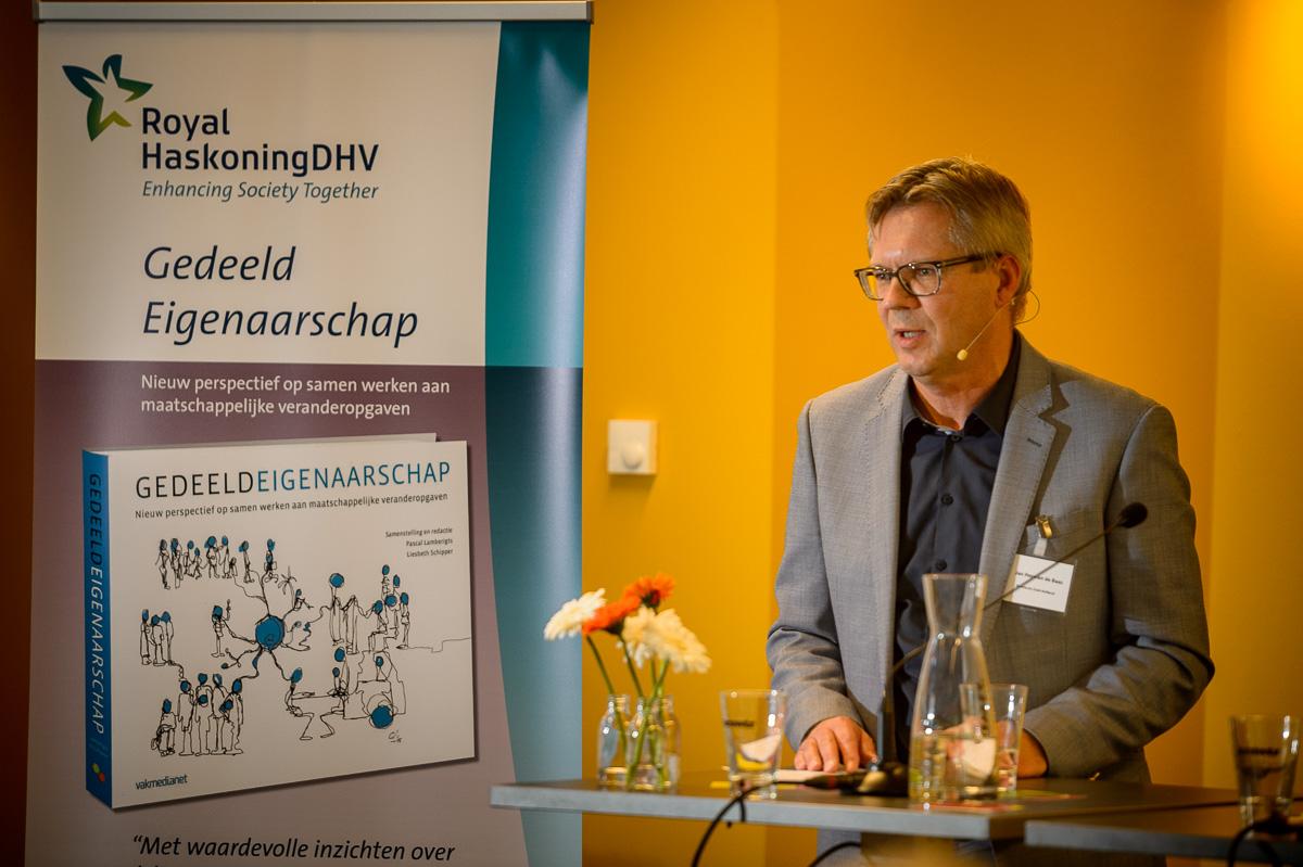 Dagvoorzitter Jan Herman de Baas, Provinciesecretaris Zuid-Holland (c) Rogier Bos